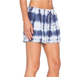 NEW Splendid tie dye navy drawstring pocket shorts